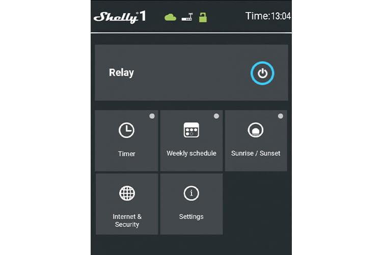 Im Menue der Shelly-App können Nutzer verbunden Geräte einfach bedienen