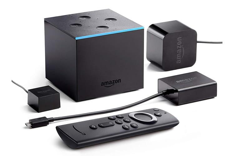 Im Lieferumfang des Fire TV Cube ist eine Sprachfernbedienung enthalten