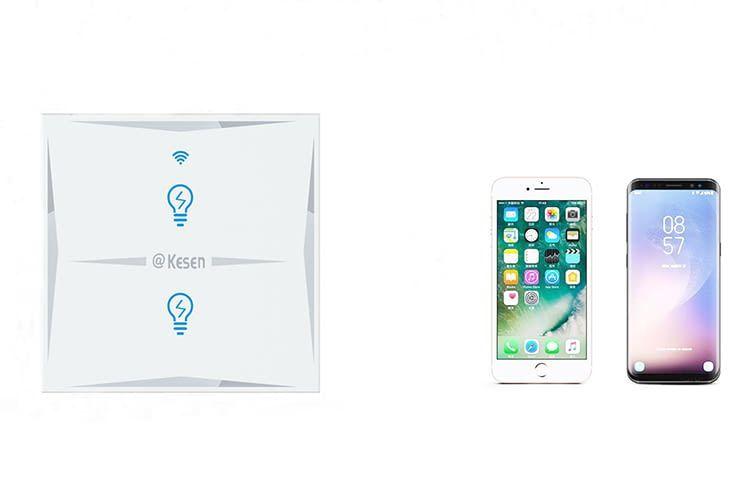 Via Android- oder iOS-App können Nutzer den WLAN-Lichtschalter bedienen
