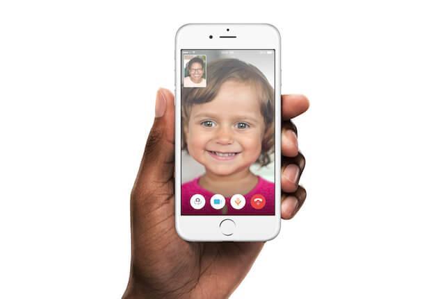 Ily Smart Home Phone App - Darstellung eines Videoanrufs
