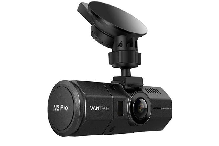 Die VANTRUE N2 Pro Dashcam besitzt eine Rück- und Vorderkamera