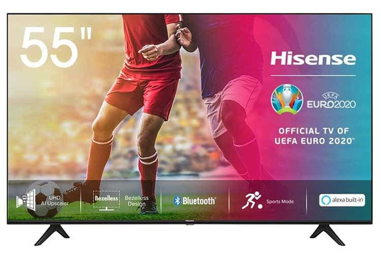 Hisense 55AE7000F beherrscht auch aktive HDR Formate, darunter das HLG Format für Live-Broadcasting