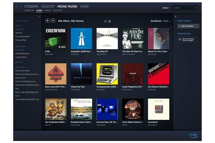 Prime Music ist sozusagen die Mini-Variante von Amazon Music Unlimited