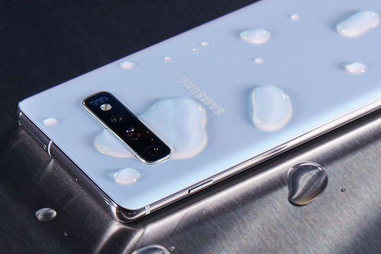 Die neue Samsung Galaxy S10 Smartphone-Reihe ist wasserdicht nach Schutzklasse IP68