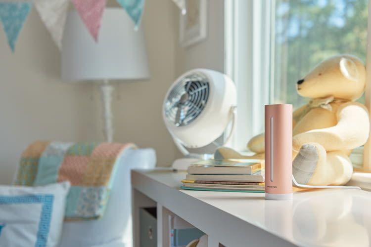 Der Healthy Home Coach kann zum Beispiel mit smarten Heizkörperthermostaten vernetzt werden