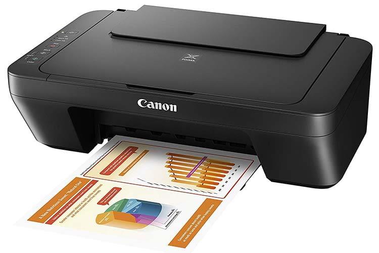 Der Canon PIXMA MG2555S 3in1 Multifunktionsdrucker funktioniert mit Tintenstrahltechnik