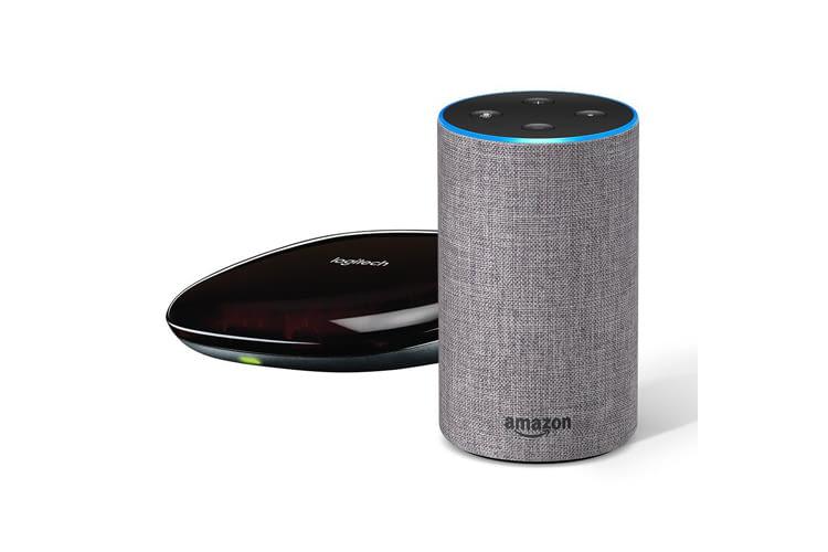 Die Farbe des Echo Lautsprechers kann bei diesem Bundle aus 5 Designs ausgewählt werden