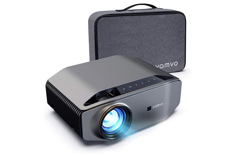 Der Full HD Mini Beamer Vamvo L6200 bietet zwei HDMI-Schnittstellen sowie eine USB Power Out Schnittstelle