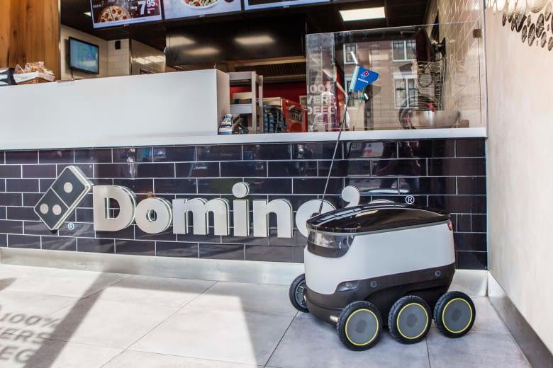 Robbie, der Lieferbot, soll künftig Domino's Pizza zum Kunden bringen