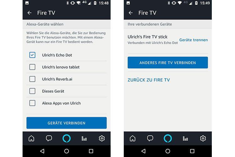 Nach dem Verbinden von Fire TV und Amazon Echo können Fire TV-Inhalte wie Amazon Prime Video per Echo gesteuert werden