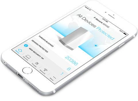 Darstellung auf F-Secure Sense iOS App
