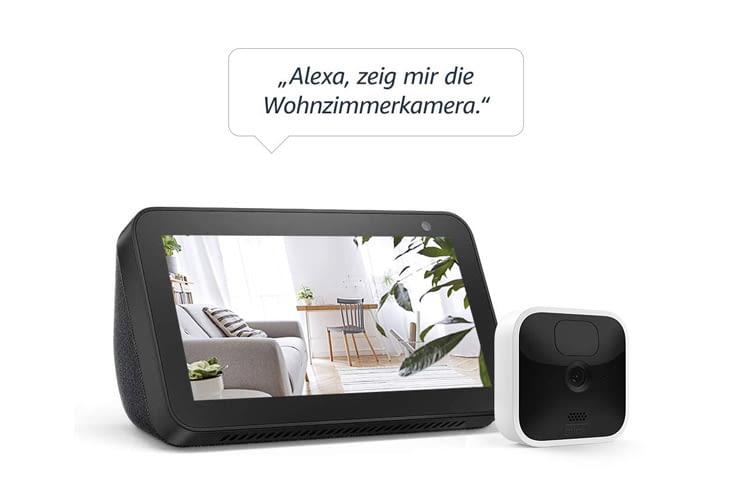 Besitzer von Alexa Geräten mit Display profitieren besonders von Blink Indoor