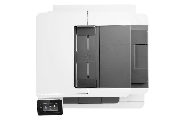 Das Design des HP Color LaserJet Pro-MFP M281fdw wirkt aufgeräumt