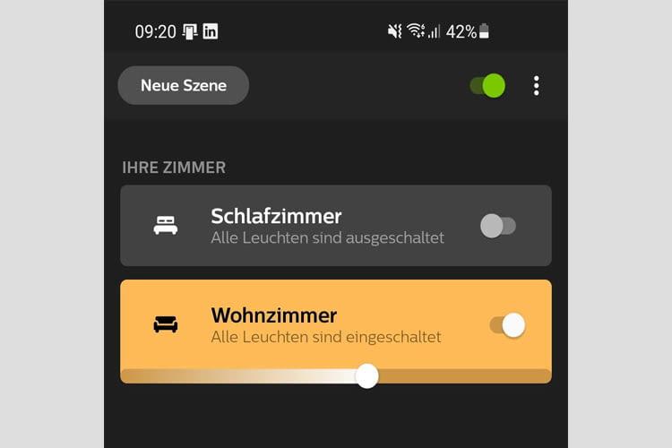 In der leicht verständlichen Philips Hue App von Signify, gibt es viele Individualisierungsoptionen