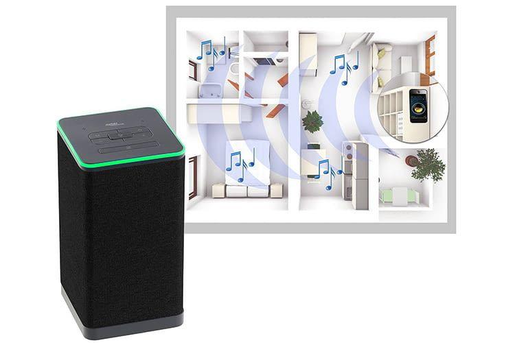 Der Auvisio QAS 400 Alexa-Lautsprecher von Pearl kann vor allem durch seinen Preis punkten