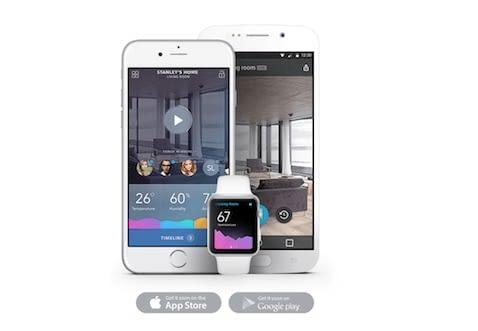 App des Angee Überwachungssystem auf Smartphone und AppleWatch