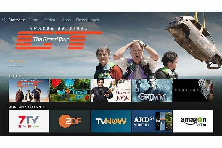 Der Home-Screen von Fire TV mit Amazon Prime Filmen und Fire TV Apps