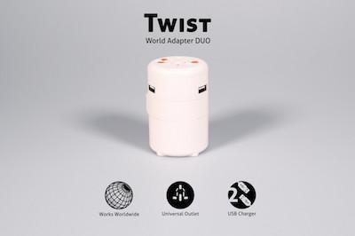 TWIST Word Adapter Duo für die Steckdosen der Welt