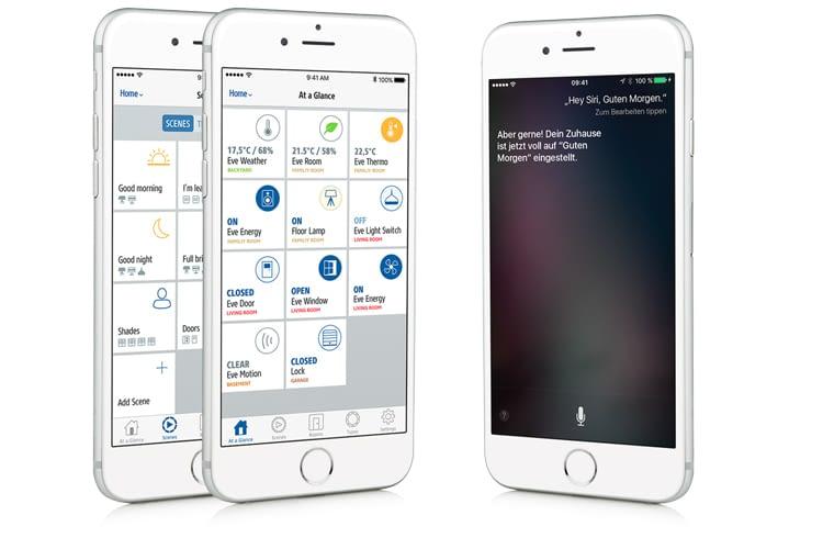 In der Elgato Eve App sind alle eingesetzten Geräte übersichtlich aufgelistet