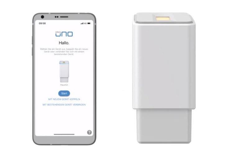 Bei dem Fingerprint Türöffner ekey uno besteht eine praktische App-Anbindung