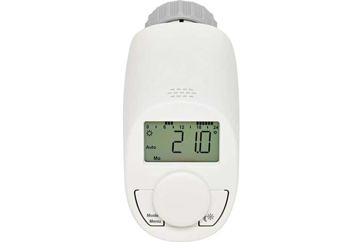 Das Eqiva Heizkörperthermostat sorgt immer für die richtige Raumtemperatur