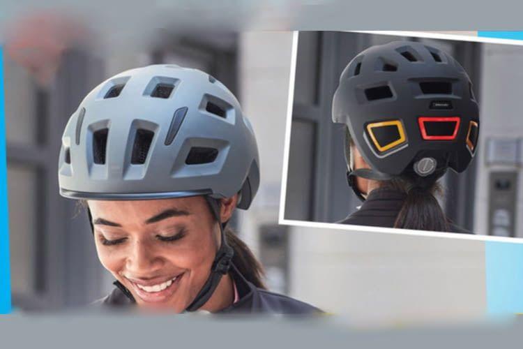 Den ALDI Helm mit Beleuchtung gibt es bisher nur in schlichtem Grau