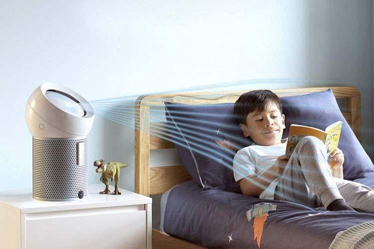 Auch im Kinderzimmer machen die Dyson Ventilatoren eine gute Figur