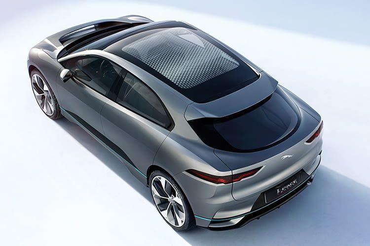 Das Jaguar I-PACE Elektroauto feiert am 1. März 2018 Weltprempiere