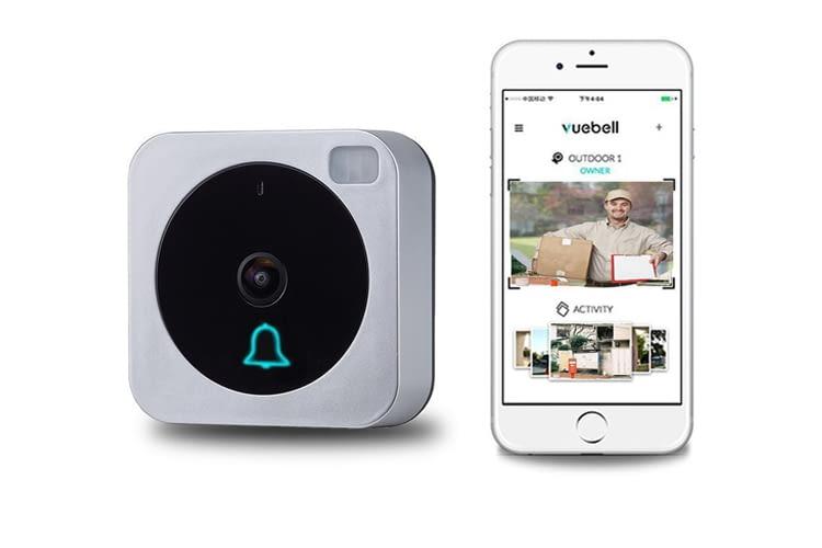 Die Türklingel überträgt Live-Bilder entweder auf ein Smartphone oder einen Echo Show
