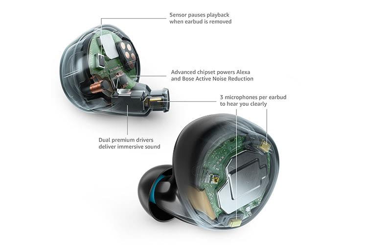 Amazon Echo Buds greifen für die ANC-Funktion auf Bose Technologie zurück