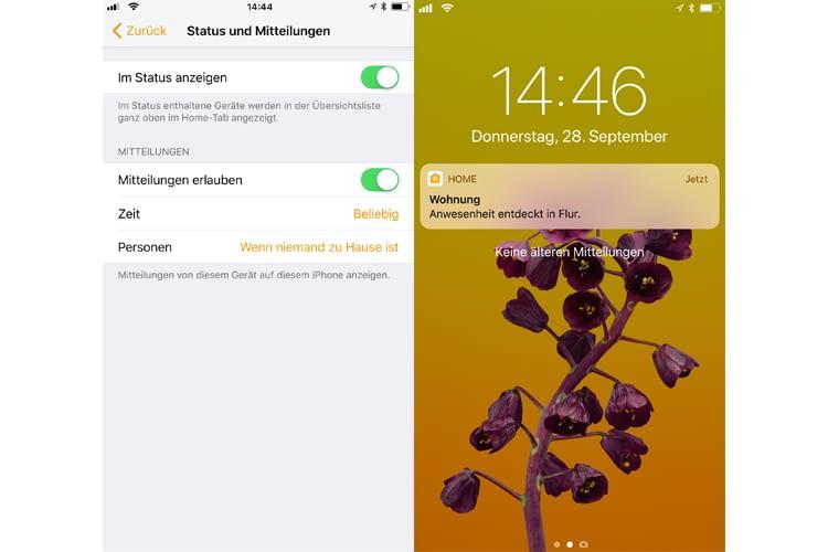 Mitteilungen: iOS 11 erlaubt die Beschränkung nach Zeit oder Anwesenheit