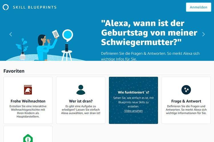 Alexa bietet einen Katalog von vorgefertigten Skills, die auf eine persönliche Anpassung warten