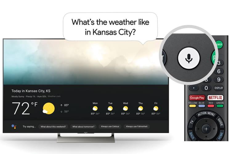 Google Assistant reagiert auf das Fernbedienungs-Mikrofon