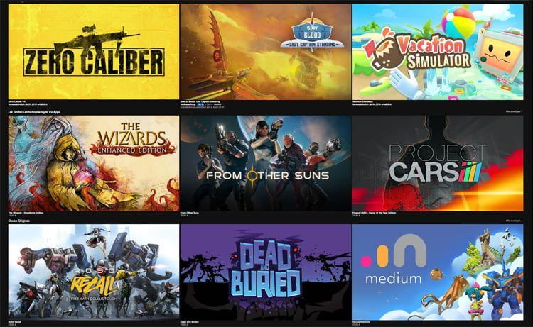 Im Store des Herstellers stehen Rollenspiele und Games für jeden Geschmack zur Auswahl
