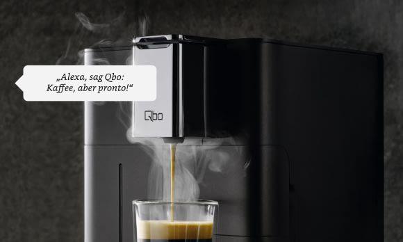 """Wenn es schnell gehen muss: """"Alexa, sag Qbo: Kaffee, aber pronto!"""""""