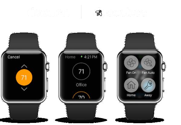 Abbildung der Apple Watch Ecobee3 App