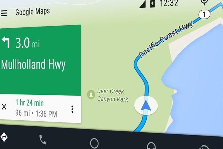 Besonders die Google Maps-App für Android Auto wartet mit vielen bequemen Funktionen auf