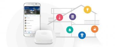 Abbildung des SmartThings Smart Home System von Samsung