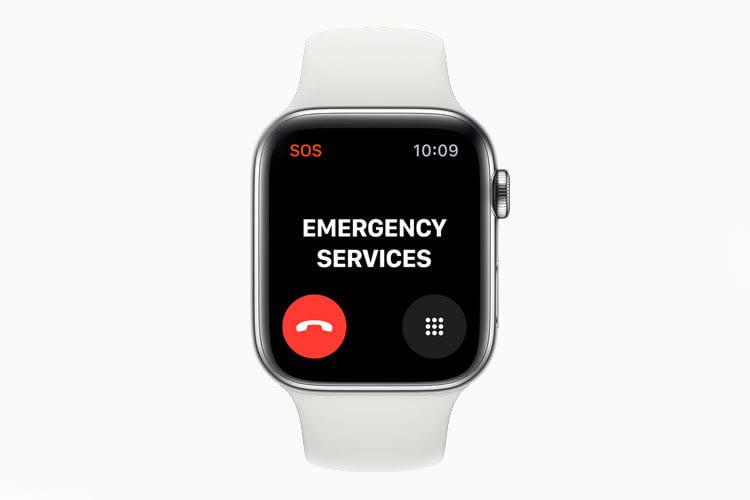 Apple Watch Series 5 hat eine internationale Notruf-Funktion, über die im Ernstfall Hilfe angefordert werden kann