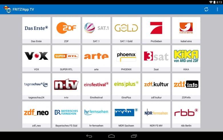 Mit der FRITZ!App wird jedes Gerät im Heimnetz zum Fernseher