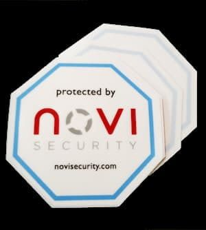 protected by novi Security Sticker - Smart Home