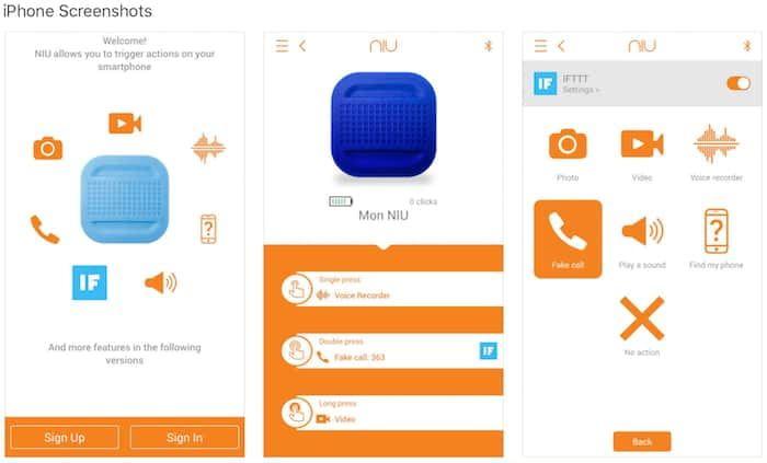 NIU Smart Button App von NodOn