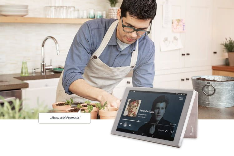 Das FireHD10-Tablet spielt jederzeit auf Zuruf die eigene Lieblingsmusik
