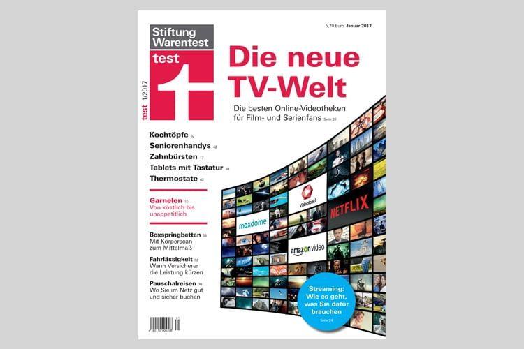 Stiftung Warentest prüfte fünf TV-Streaming-Anbieter und zwei öffentlich rechtliche Angebote