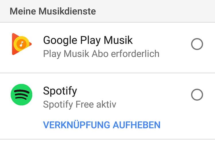 Streamingdienste wie Spotify oder Deezer lassen sich leicht mit Google Home verknüpfen