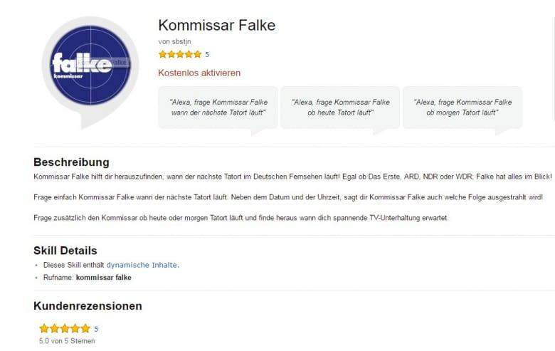 Kommissar Falke Alexa Skill