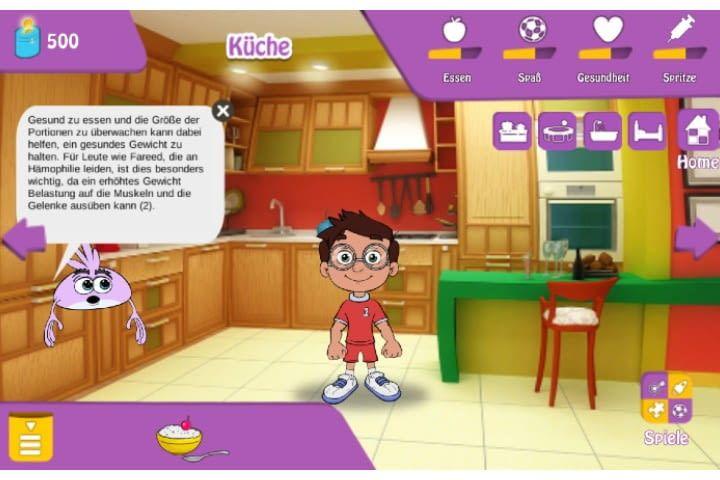 Hämophile Kinder lernen mit der App die Bedeutsamkeit des regelmäßigen Spritzens