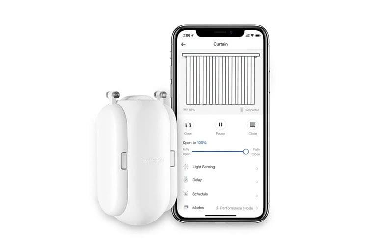 Die Bedienung von SwitchBot Curtain erfolgt per Smartphone App