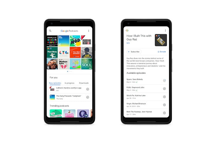 Die Google Podcast App hat Google Assistant integriert