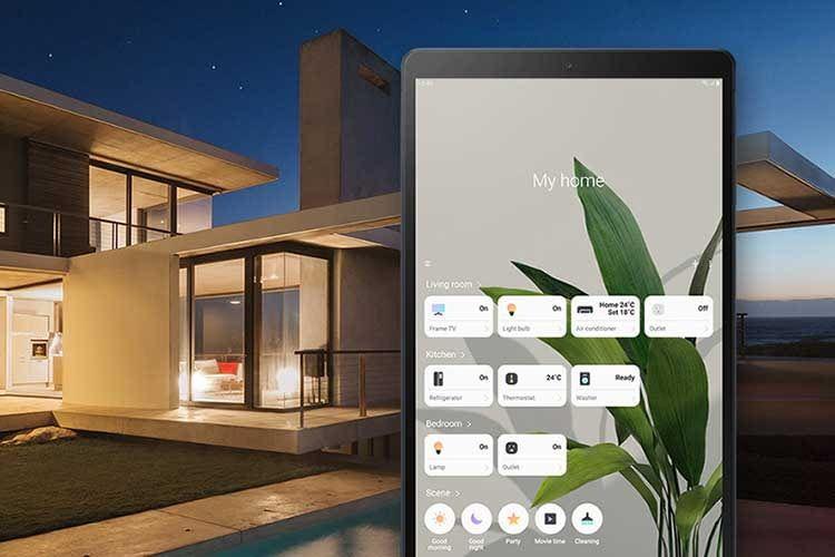 Samsung SmartThings kompatible Geräte lassen sich direkt auf dem Display von Galaxy Tab A 10.1 (2019) verwalten